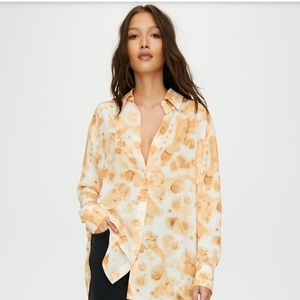 NWT Wilfred Brinley Blouse in Clove Size XXS